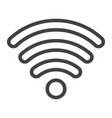 wifi line icon web and mobile internet sign vector image