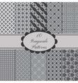 10 patterns set vector image vector image