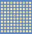 100 ecology icons set cartoon vector image vector image