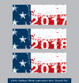 american flag independence day timeline cover vector image vector image