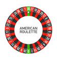 american roulette wheel vector image vector image