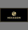 bh hexagon logo vector image vector image