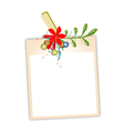 Blank Photos with Mistletoe Hanging on Clothesline vector image vector image