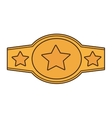 boxing championship belt isolated icon vector image vector image