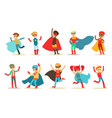 boys in superhero costume set cute little super vector image vector image