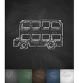 bus icon Hand drawn vector image
