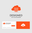 business logo template for cloud storage vector image