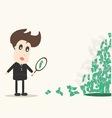 businessman looking on dollar vector image