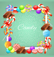 candies frame background vector image vector image