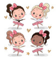 cartoon ballerina on a white background vector image