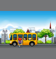 children on a yellow school bus vector image