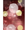 christmas greeting card or postcard with blurred vector image
