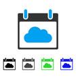 cloud calendar day flat icon vector image vector image