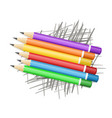 colored pencils on scribble vector image vector image