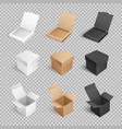 containers templates icons boxes packages vector image