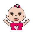 cute baby icon vector image vector image