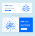 cyber security design with unique style vector image