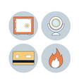 cyber security symbols vector image