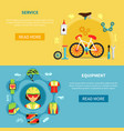cycling banners set vector image vector image