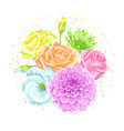 decorative bouquet with delicate flowers object vector image vector image