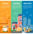 Delivery service vertical banners set vector image