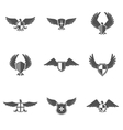 Eagle Icon Shield Set vector image