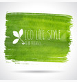 ecology green banner eco green textured banner vector image vector image