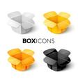 empty cardboard packaging open box icon vector image vector image