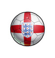 english national football team - soccer ball vector image