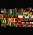 find the motivator that creates hunger text vector image vector image