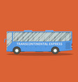 flat bus vector image vector image