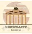 Germany landmarks Retro styled image vector image