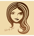 Graphic portrait of a beautiful girl vector image vector image