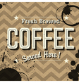 grunge coffee card vector image vector image