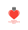 Happy Valentines day Abstract heart vector image vector image