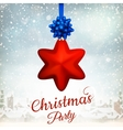 Holiday Merry Christmas party template EPS 10 vector image vector image