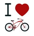 I Love Bicycle T-shirt Design vector image
