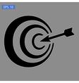 icon purpose on grey vector image