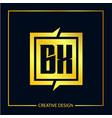 initial letter bx logo template design vector image