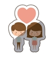 Isolated boy and girl cartoon design vector image vector image