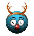 isolated happy emoji vector image