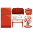 isolated set household item vector image
