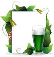 Leprechaun green beer vector image vector image