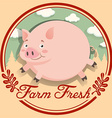 Logo design with fat pig vector image