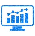 Monitoring Grainy Texture Icon vector image vector image