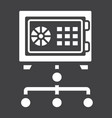 network safe vault solid icon strongbox vector image vector image