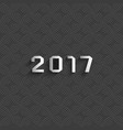 new 2017 year text design - paper white numbers vector image