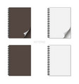 notepad set whis curved paper on a white vector image vector image