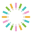 Pencil round frame Isolated Template vector image vector image