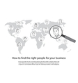 People search all around the world concept vector image vector image